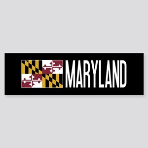 Maryland: Marylander Flag & Maryl Sticker (Bumper)